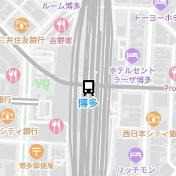 博多駅の周辺地図