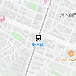 舟入南駅の周辺地図