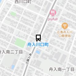 舟入川口町駅の周辺地図
