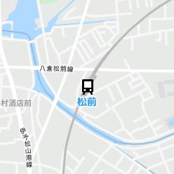 松前駅の周辺地図