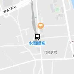 水間観音駅の周辺地図