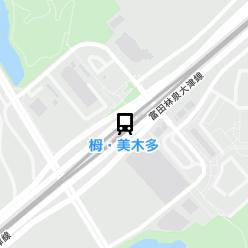 栂・美木多駅の周辺地図