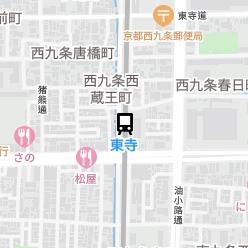 東寺駅の周辺地図