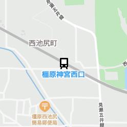 橿原神宮西口駅の周辺地図