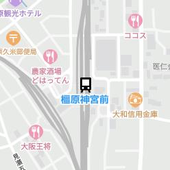 橿原神宮前駅の周辺地図