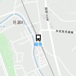 岡寺駅の周辺地図