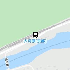大河原(京都)駅の周辺地図