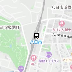 八日市駅の周辺地図