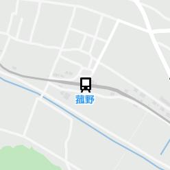 菰野駅の周辺地図