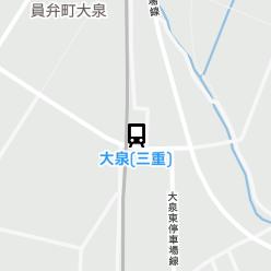 大泉(三重)駅の周辺地図