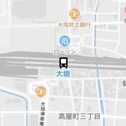 大垣駅の周辺地図