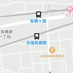 名電各務原駅の周辺地図