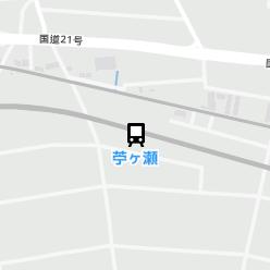 苧ヶ瀬駅の周辺地図