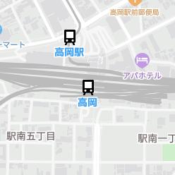 高岡駅の周辺地図