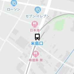 米島口駅の周辺地図
