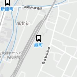 能町駅の周辺地図
