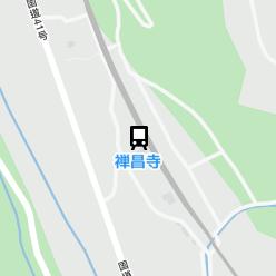 禅昌寺駅の周辺地図