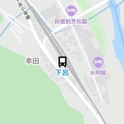 下呂駅の周辺地図
