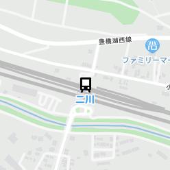 二川駅の周辺地図