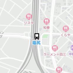 塩尻駅の周辺地図