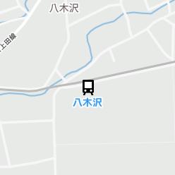 八木沢駅の周辺地図