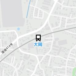 大岡駅の周辺地図
