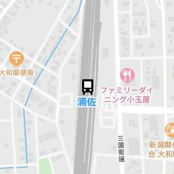 浦佐駅の周辺地図