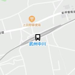武州中川駅の周辺地図