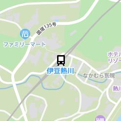 伊豆熱川駅の周辺地図