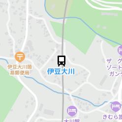 伊豆大川駅の周辺地図