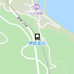 伊豆北川駅の周辺地図