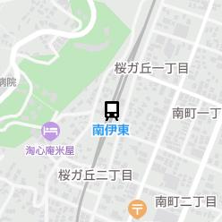 南伊東駅の周辺地図