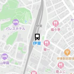 伊東駅の周辺地図