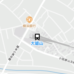 大雄山駅の周辺地図
