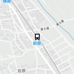 岩原駅の周辺地図