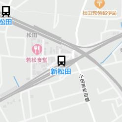 新松田駅の周辺地図