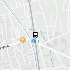 栢山駅の周辺地図