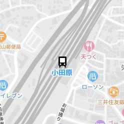 小田原駅の周辺地図