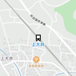 上大井駅の周辺地図