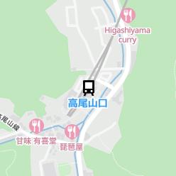 高尾山口駅の周辺地図