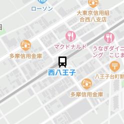 西八王子駅の周辺地図