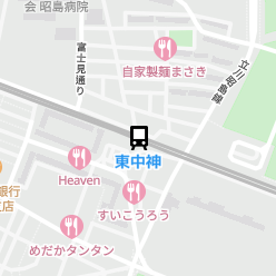 東中神駅の周辺地図