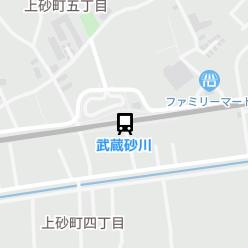 武蔵砂川駅の周辺地図