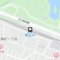 西立川駅の周辺地図