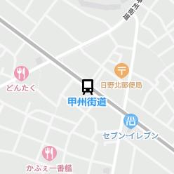 甲州街道駅の周辺地図