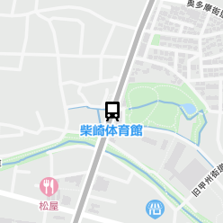柴崎体育館駅の周辺地図