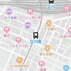 立川南駅の周辺地図