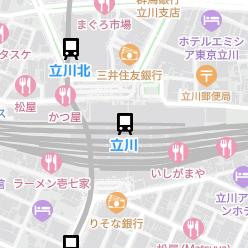 立川駅の周辺地図