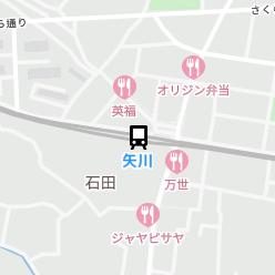 矢川駅の周辺地図