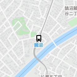 鵠沼駅の周辺地図